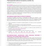 Preocupaciones sobre el coronavirus (COVID-19)